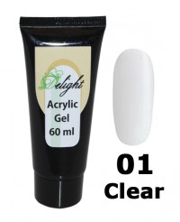 Поли-гель Acrylic Gel Clear # 01, 60 мл
